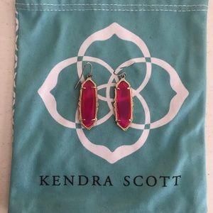 Kendra Scott drop earrings in magenta
